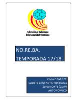 180222 Sistema de competición Copa IR Autonómico FEM. 17-18 NORTE