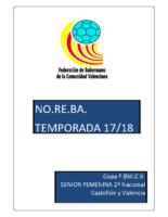 180427 Normativa Copa FBMCV SENIOR F. 2ª N. CSyV 17-18
