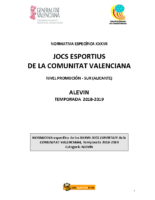 181030 Normativa Balonmano Promoción 18-19 Alicante