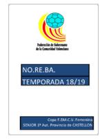 190213 Normativa Copa FBMCV 1ª A.F. CASTELLON 18-19