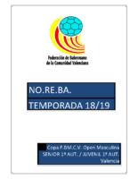 190401 Normativa Copa FBMCV 1ª A.M. VALENCIA 18-19