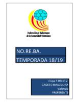 190403 Sistema de competición Copa IR Preferente 18-19 C.M. VALENCIA