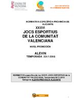Bases Competición Alevin Alicante PROMOCIÓN 17-18