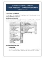 Bases de Competición JUVENIL 2ª AUTONOMICA M. 17-18