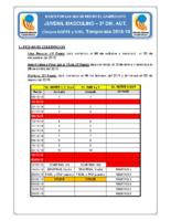 Bases de Competición JUVENIL M. 2ª AUTONOMICA 18-19