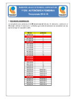 Bases de Competición SENIOR 1ª AUTONOMICA F. 18-19