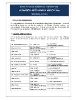 Bases de Competición SENIOR 1ª AUTONOMICA M. 17-18