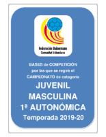 Bases JUVENIL 1ª AUTONOMICA M. 19-20