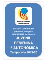 Bases JUVENIL 1ª AUTONOMICA F. 19-20