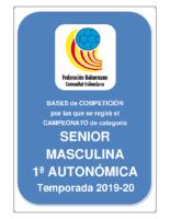 Bases SENIOR 1ª AUTONOMICA M. 19-20