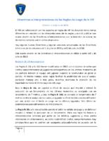 Directrices e Interpretaciones de las Reglas de Juego de la IHF 2019