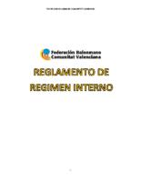 REGLAMENTO DE REGIMEN INTERNO SSAA
