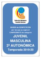 Bases JUVENIL 2ª AUTONOMICA M. 19-20