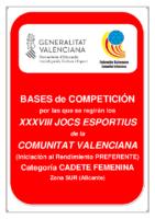 Bases de Competición JOCS ESPORTIUS Preferente CAD. FEM. SUR 19-20