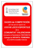 Bases de Competición JOCS ESPORTIUS Preferente INF. FEM. NORTE 19-20