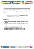 Formula aplicación clasificación 2 grupos diferentes