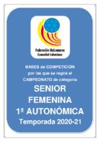 Bases de Competición SENIOR 1ª AUTONOMICA F. 20-21
