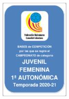 Bases de Competición JUVENIL 1ª AUTONOMICA F. 20-21