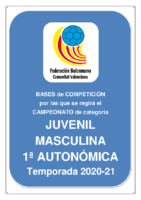 Bases de Competición JUVENIL 1ª AUTONOMICA M. 20-21