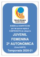 Bases de Competición JUVENIL 2ª AUTONOMICA F. 20-21