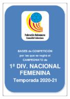 Bases de Competición SENIOR 1ª NACIONAL F. 20-21