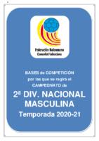 Bases de Competición SENIOR 2ª NACIONAL M. 20-21