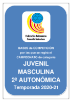 Bases de Competición JUVENIL 2ª AUTONOMICA M. 20-21