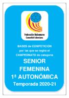 201007 Bases de Competición SENIOR 1ª AUTONOMICA F. 20-21