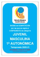 201209 Bases de Competición JUVENIL 1ª AUTONOMICA M. 20-21