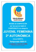 201209 Bases de Competición JUVENIL 2ª AUTONOMICA F. 20-21