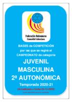 201209 Bases de Competición JUVENIL 2ª AUTONOMICA M. 20-21
