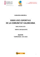 201215 Normativa Competición Balonmano PROMOCION Alevin ALICANTE 20_21